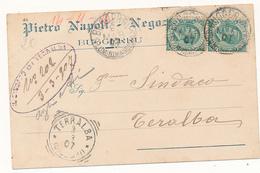 1907 SARDEGNA BUGGERRU (FLUMINIMAGGIORE) CERCHIO GRANDE SU CARTOLINA COMMERCIALE NEGOZIANTE - Storia Postale