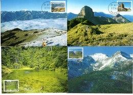 China Taiwan 4 Tarjeta Máxima Nº Michel 2193/96 (Maximum Cards) - Lettres & Documents