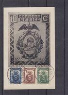 Mexique - Carte Postale De 1933 - Oblit Mexico - Rapaces - Aigle - Globe - - Messico