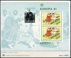 PORTUGAL MADEIRA -  Frédéric Mistral  - NOBEL PRIZE LAUREATES  -1 Sheet MNH - Prix Nobel