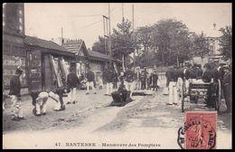 NANTERRE 1907 - Manoeuvre Des Pompiers - Nanterre