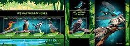 Djibouti 2019, Animals, Kingfisher II, 4val In BF +BF - Djibouti (1977-...)