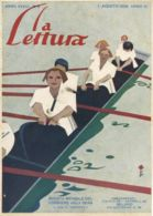 COP 130 - COPERTINA ORIGINALE - LA LETTURA - AGOSTO 1928 - FIRMATA PIERO BERNARDEINI - Old Paper