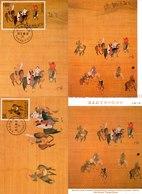 China Taiwan 3 Tarjeta Máxima Nº Michel 2439/40 (Maximum Cards) - 1949 - ... República Popular