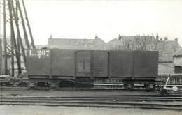 PITHIVIERS -  Wagon L.207 TPT,carte Photo Laurent En 1956. - Trains