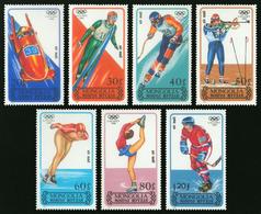474- Mongolie 1988  YT PA 159/165 ; Mi# 1939/45 ** MNH Jeux Olympiques D'hiver - Mongolia