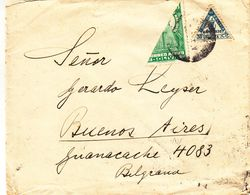 Bolivie - Lettre De  1942 ° - Exp Vers Buenos Aires - Avec Demi Timbre - Vierge Copacabana - Bolivie