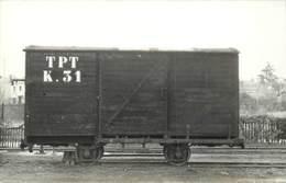 PITHIVIERS -  Wagon K.31  TPT,carte Photo Laurent En 1956. - Eisenbahnen