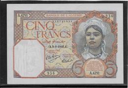 Algérie - 5 Francs - Pick N°77 - SPL/NEUF - Algeria