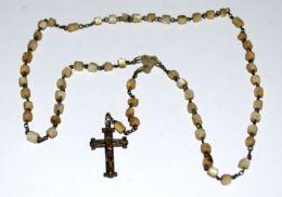 R 07 - CORONA ROSARIO CON GRANI IN MADREPERLA Mm. 3 - Religione & Esoterismo