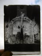 LANEUVELLE INAUGURATION MONUMENTS AUX MORTS PLAQUE DE VERRE PHOTOGRAPHE MERGER A HORTES  24 X 17.5 CM - Diapositiva Su Vetro