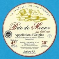 Etiquettes De Fromage.   Brie De Meaux.   Neuve. - Cheese