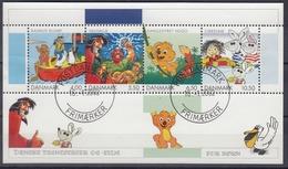 +Denmark 2002. Childrens Comics. Bloc. AFA 1311. Oblitéré / Cancelled - Blocchi & Foglietti