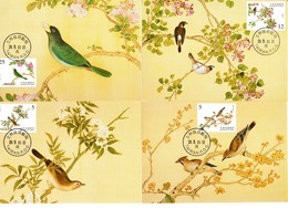 China Taiwan 4 Tarjeta Máxima Nº Michel 2696/99 (Maximum Cards) - Storia Postale