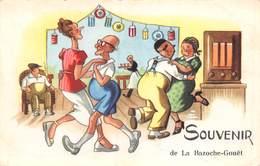 20-1218 : SOUVENIR DE LA BAZOCHE-GOUET. POSTE DE RADIO. LA  DANSE. - Non Classés
