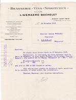 62-L.Wemaere-Bachelet ..Brasserie-Vins-Spiritueux....Ecoust-Saint-Mein Par Croisilles...(Pas-de-Calais)..1933 - Autres