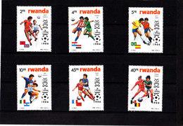 Soccer World Cup 1986 - RWANDA - Set MNH** - Coppa Del Mondo