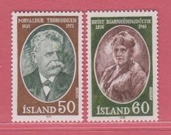 1978 **Islande  (sans Charn., MNH, Postfrish)  Yv  481/2Mi  528/9FA  565/6 - Neufs