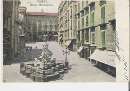 ITALIE - NAPLES - NAPOLI. CPA Voyagée En 1905 Plazza Monteoliveto - Napoli (Naples)