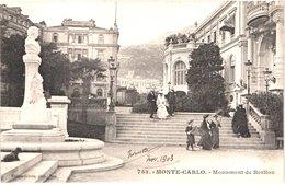 MC MONACO - MONTE CARLO - Gilets 753 - Précurseur - Monument De Berlioz - Animée - Belle - Monte-Carlo