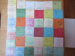 Lot De 38 Taxes  Vignettes Automobiles  Annees 1957 A 1996 - Fiscaux