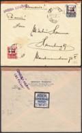 """Espagne - Lettre Censurée """" Griffe Las Palmas"""" De Puerto De La Luz 25/02/1938 Vers Hamburg (RD205) DC5718 - 1931-Aujourd'hui: II. République - ....Juan Carlos I"""