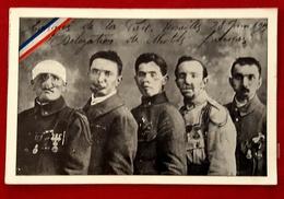 CPA MILITARIA GUERRE 1914-1918 GUEULES CASSEES MUTILES FRANCAIS BLESSES CONGRES DE LA PAIX VERSAILLES 1919 - Guerre 1914-18
