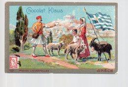 REF Phor3: Chromo Grece Greece Grec Hellas Klaus Chocolat La Poste - Other
