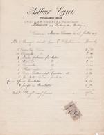 62-A.Egret..Fondeur-Etameur..Metz-en-Couture...(Pas-de-Calais)..1929 - Petits Métiers