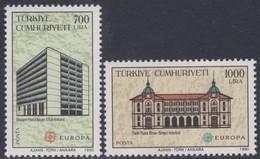 Cept 1990 Turquie Turkije Yvertn° 2634-2635 *** MNH Cote 7,00 Euro - 1921-... République