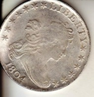 1 Dollar 1804 Fausse Pièce Aspect Argent Mais Aimantable - Bondsuitgaven
