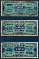 "FR Lot De 3 Billets De 100 Fr  Type Verso ""France""   Série 2, Série 6 Et Série 8 - 1945 Verso Francia"