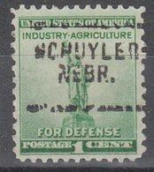 USA Precancel Vorausentwertung Preo, Locals Nebraska, Schuyler 703 - Verenigde Staten