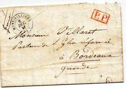 P.P. Et Cachet 15 MONTIVILLIERS,L.A.C. Du 6/12/45. - 1801-1848: Voorlopers XIX