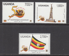 2012 Uganda Independence Anniversary Flags Monument Complete Set Of 3 MNH - Oeganda (1962-...)