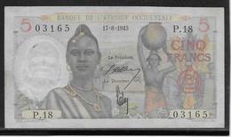 A.O.F. - 5 Francs - Pick N°36 - SUP - Bankbiljetten