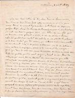 1829 CHÂTEAUDUN - Proposition De Mariage, Choix De La Demoiselle Et Sa Dot - Historische Dokumente