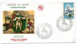 France N° 1485 Y. Et T. Paris Cachet Commémoratif Salon De L'enfance Du 31/10/1966 - Postmark Collection (Covers)