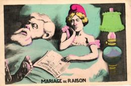 """Frankreich, Politische Karikatur, """"Mariage De Raison"""", Sign. Mille - Satirische"""