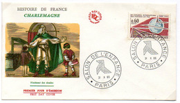 France N° 1488 Y. Et T. Paris Cachet Commémoratif Salon De L'enfance Du 31/10/1966 - Postmark Collection (Covers)