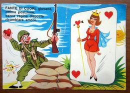 Humor Militari - Fante Di Cuori  Pin Up   CARTOLINA   Viaggiata - Umoristiche