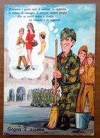 Humor Militari - Sogna E Aspetta Pin Up   CARTOLINA   Viaggiata - Umoristiche