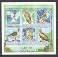 F157 !!! ONLY ONE IN STOCK 1999 REPUBLIQUE DU MALI FAUNA BIRDS LES RAPACES OWLS !!! MICHEL 14 EURO !!! 1KB MNH - Adler & Greifvögel