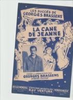 (50) GEORGES BRASSENS ,  LA CANE DE JEANNE - Scores & Partitions