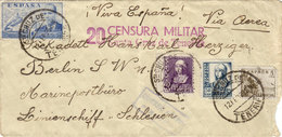 SPAGNA- LETTERA CON ANNULLO DELLA CENSURA MILITARE COME DA FOTO - 1889-1931 Royaume: Alphonse XIII