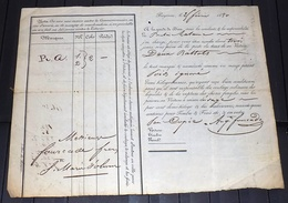 LETTRE DE VOITURE BAYONNE à SAINTE-MARIE-D'OLORON 1890. DROGUERIE. Recto-verso - Frankreich