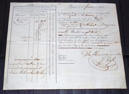 LETTRE DE VOITURE BAYONNE à SAINTE-MARIE-D'OLORON 1835. DROGUERIE. Recto-verso - Frankreich