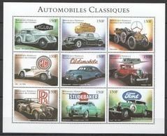 PK319 DES COMORES TRANSPORTATION AUTOMOBILES CLASSIQUES CARS 1KB MNH - Cars