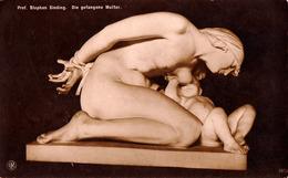 SCÈNE D' ALLAITEMENT MATERNEL / BREASTFEEDING : MOTHER And CHILD - DIE GEFANGENE MUTTER Par S. SINDING - NPG (ad649) - Otros