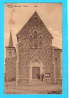 CPA BOURCY : L'Eglise (2 Personnes Devant) - Circulée  - 2 Scans - Bastogne